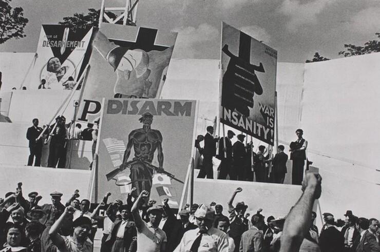 David Seymour (Chim), Anti-War Rally, Saint-Cloud, 1936, printed 1982