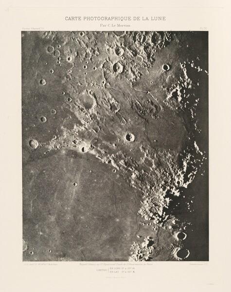 Carte photographique de la lune, planche IX (Photographic Chart of the Moon, plate IX)