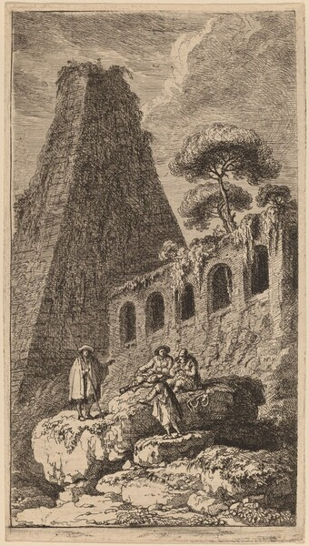 The Pyramid of Sesto near the Gates of St. Pauli in Rome