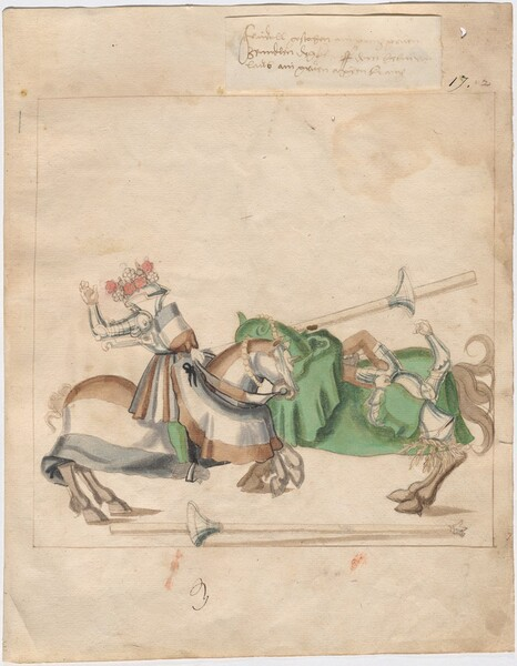 Freydal, The Book of Jousts and Tournaments of Emperor Maximilian I: Combats on Horseback (Jousts)(Volume I): Plate 1