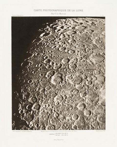 Carte photographique de la lune, planche IV.A (Photographic Chart of the Moon, plate IV.A)