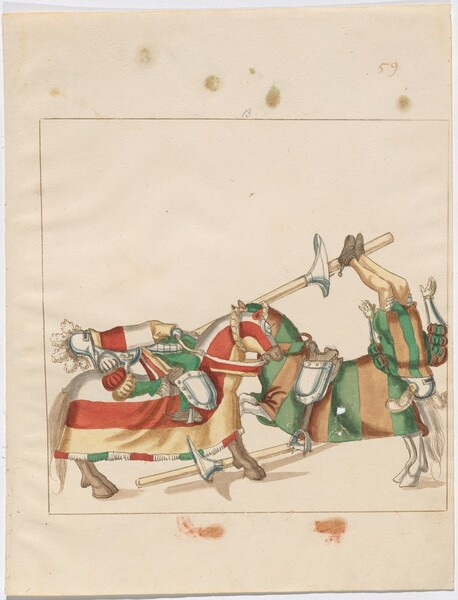 Freydal, The Book of Jousts and Tournaments of Emperor Maximilian I: Combats on Horseback (Jousts)(Volume I): Plate 56