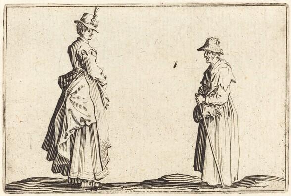 Two Women in Profile