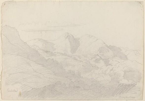 The Sabine Hills and Rocca Santo Stefano Seen from Civitella