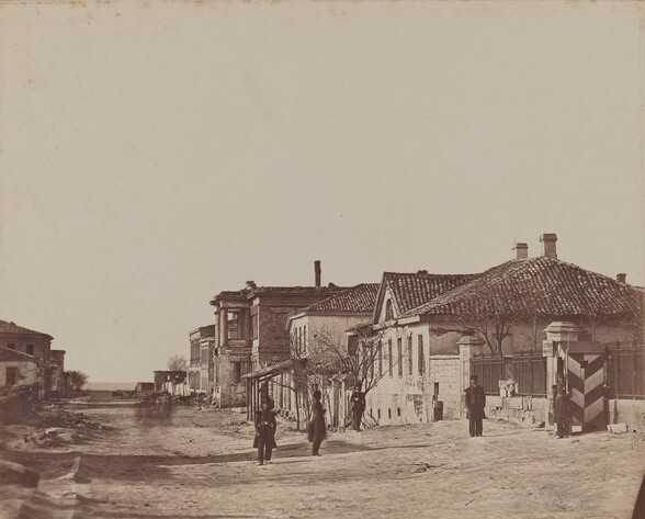 View of Street with Soldiers