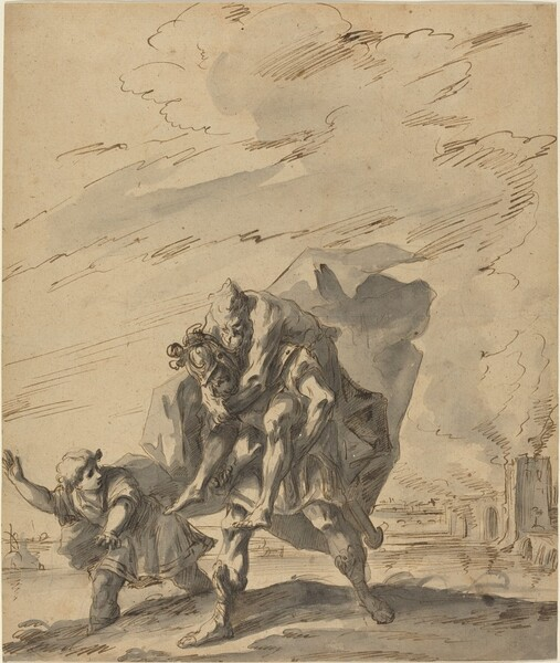 Aeneas Carrying Anchises from Burning Troy
