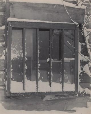Window: Wood, Glass, Snow