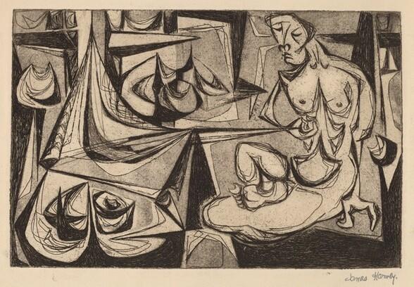 Untitled (Seated Nude Model)