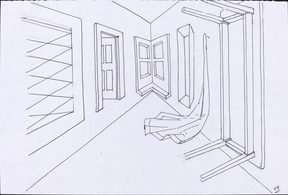 Basket, Table, Door, Window, Mirror, Rug #45