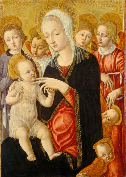 Madonna and Child with Angels and Cherubim