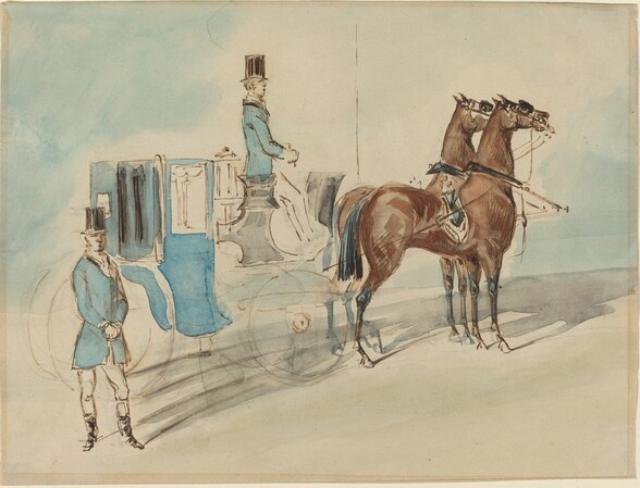 Carriage with Driver and Groom: Spring