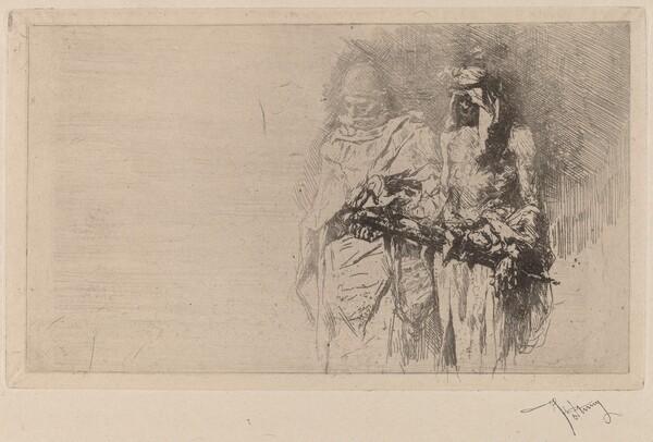 Croquis (Two Arabian Figures)