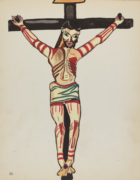 Plate 26: Christ Crucified, Taos: From Portfolio Spanish Colonial Designs of New Mexico