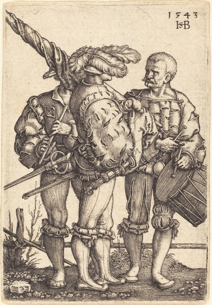 Standard Bearer, Drummer, and Piper