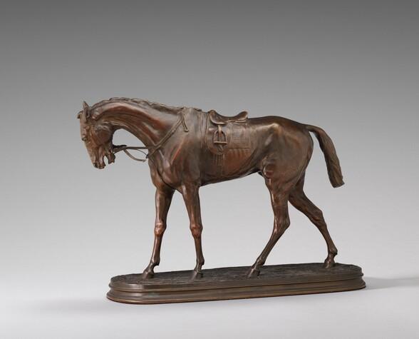 A Saddled Racehorse