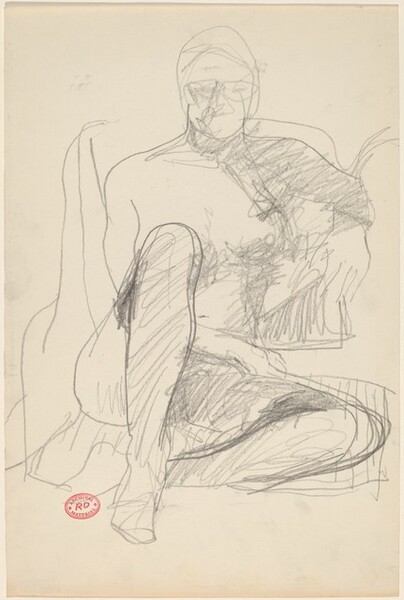 Untitled [seated woman with raised knee]