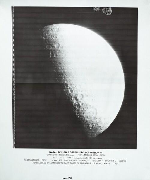 Lunar Orbiter, Medium Resolution, LOIV M-186