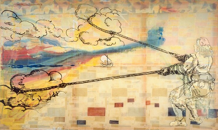 Sigmar Polke, Hope is: Wanting to Pull Clouds, 1992