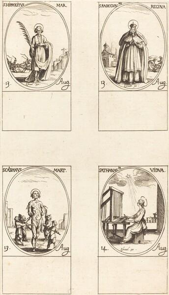 St. Hippolytus; St. Radegund, Queen; St. Cassian; St. Athanasia