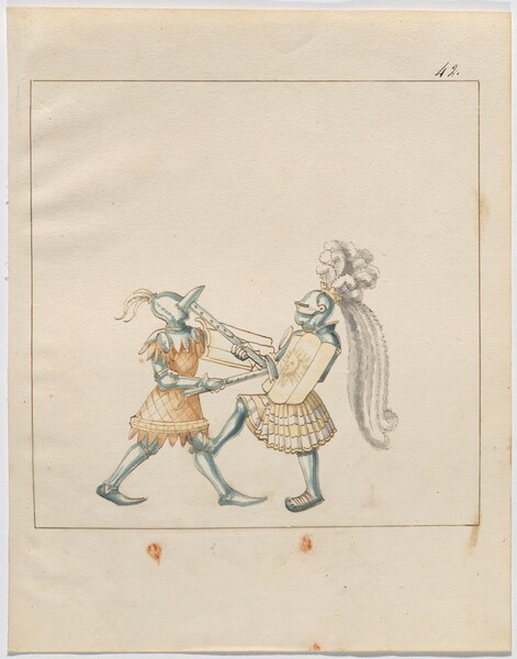 Freydal, The Book of Jousts and Tournament of Emperor Maximilian I: Combats on Foot (Jousts)(Volume III): Plate 123