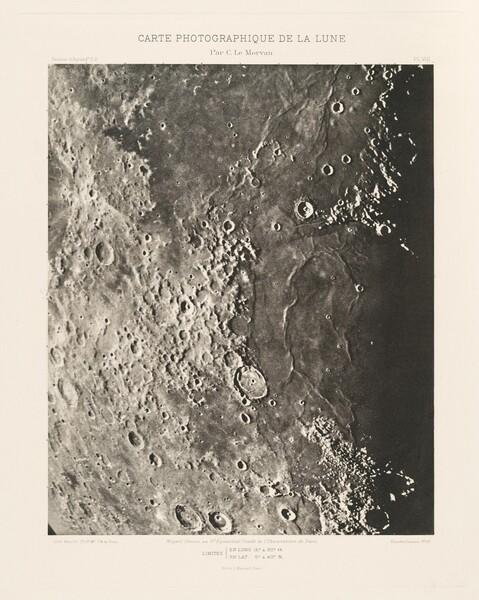 Carte photographique de la lune, planche VIII (Photographic Chart of the Moon, plate VIII)