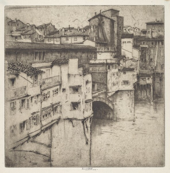 Looking over the Ponte Vecchio