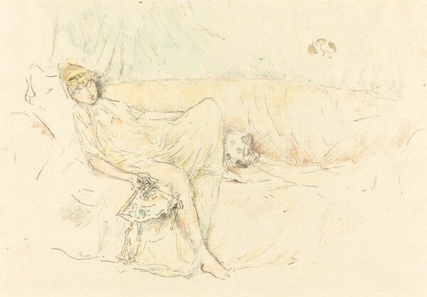 Draped Figure, Reclining