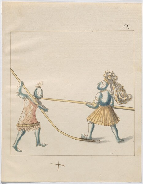 Freydal, The Book of Jousts and Tournament of Emperor Maximilian I: Combats on Foot (Jousts)(Volume III): Plate 129