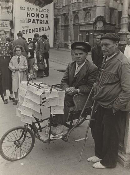 David Seymour (Chim), National Lottery, Barcelona, Spanish Civil War, 1938
