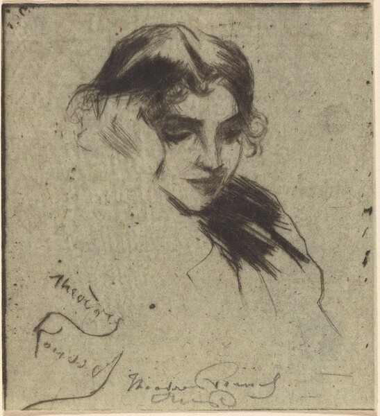 Head of Girl, Leaning on her Hand