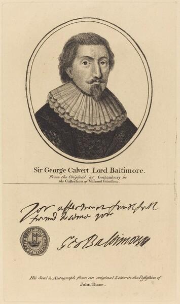 Sir George Calvert, Lord Baltimore
