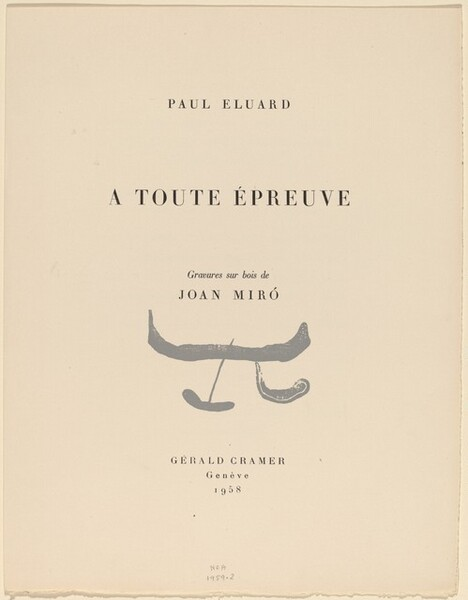 A toute épreuve [suite of prints without text, on China paper, from special edition]