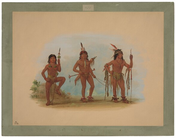 Lengua Medicine Man with Two Warriors