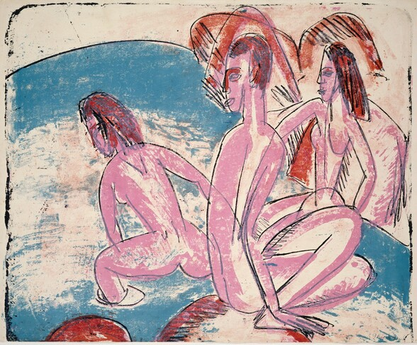 Three Bathers by Stones