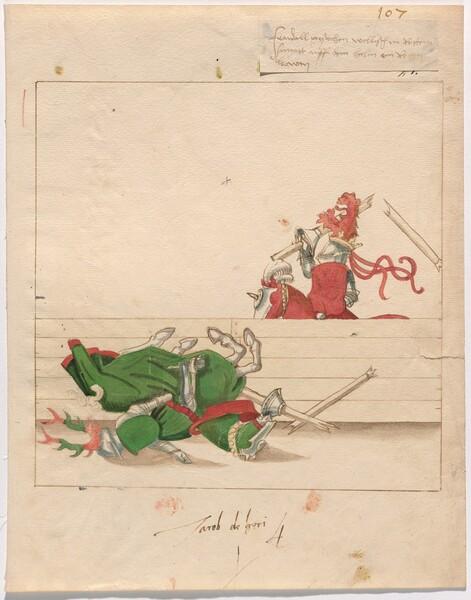 Freydal, The Book of Jousts and Tournament of Emperor Maximilian I: Combats on Horseback (Jousts)(Volume II) Jacob de Heri: Plate 96