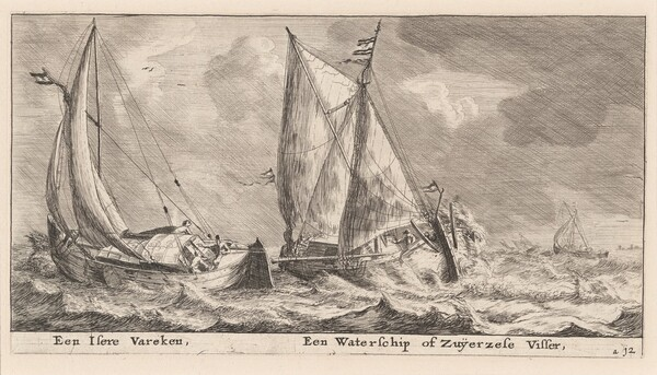 An Isere Vessel and a Waterschip or Zuiderzee Fishing-Boat
