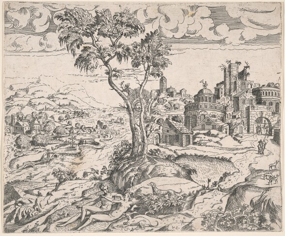 Imaginary Landscape with an Amorous Couple
