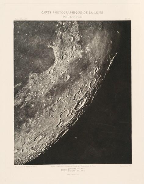 Carte photographique de la lune, planche XVI (Photographic Chart of the Moon, plate XVI)