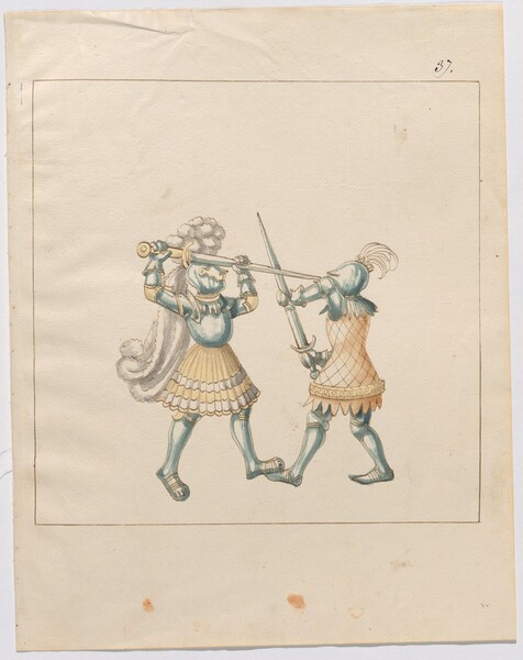 Freydal, The Book of Jousts and Tournament of Emperor Maximilian I: Combats on Foot (Jousts)(Volume III): Plate 167