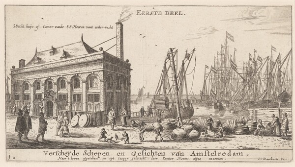 View of the Port of Amsterdam with the Office of the Water Authority (Title Page)
