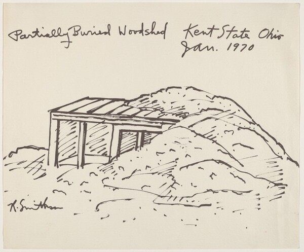 Partially Buried Woodshed