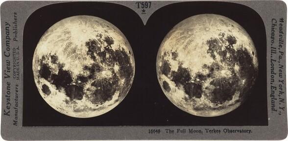 The Full Moon. Yerkes Observatory.