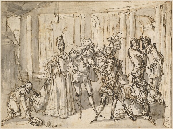 A Performance by the Commedia dell
