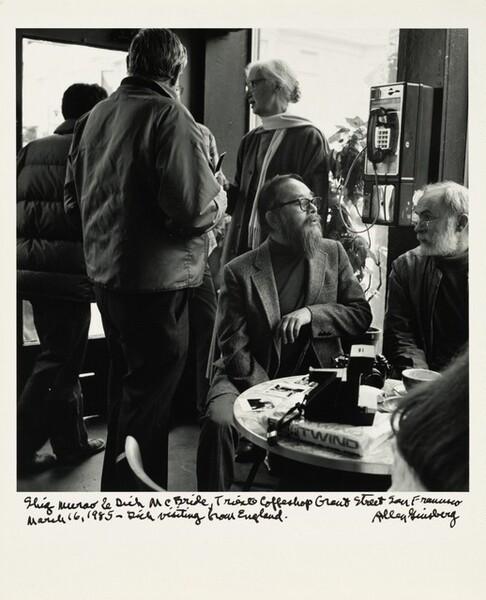 Shig Murao & Dick McBride, Trieste Coffeeshop Grant Street, San Francisco March 16, 1985—Dick visiting from England.
