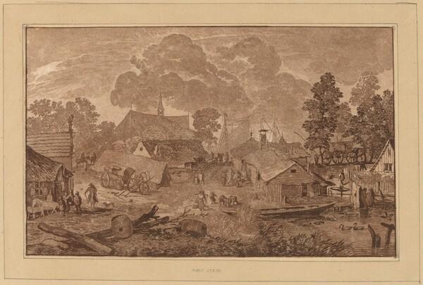 Village with Pond