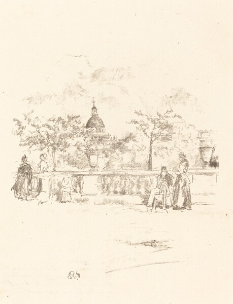 The Pantheon, from the Terrace of the Luxembourg Gardens
