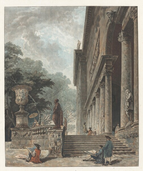 Colonnade et Jardins du Palais de Medici (Colonnade and Gardens of the Palazzo Medici)