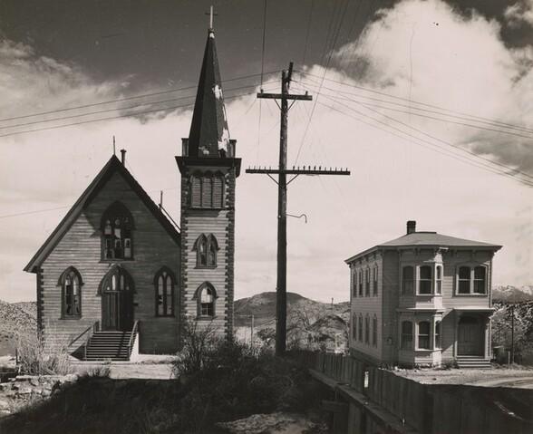Church and House, Virginia City, Nevada