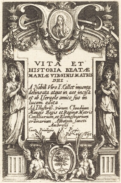 Frontispiece for The Life of the Virgin