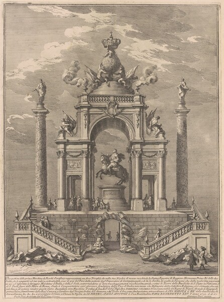 The Prima Macchina for the Chinea of 1751: Triumphal Arch for Roger I of Sicily